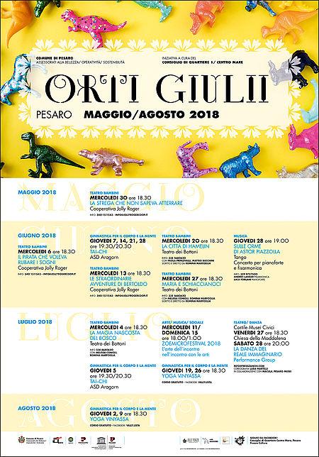 Manifesto estate Orti Giulii 2018