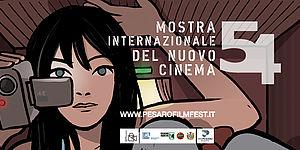 """""""ragazza gigante"""" di Alessandro Baronciani, manifesto della 54. Mostra internazionale del nuovo cinema/ Pesaro Film Festival"""