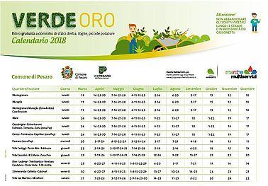 Calendario VerdeOro a Pesaro anno 2018