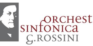 Grafica del viso di Rossini + scritta Orchestra Sinfonica Rossini