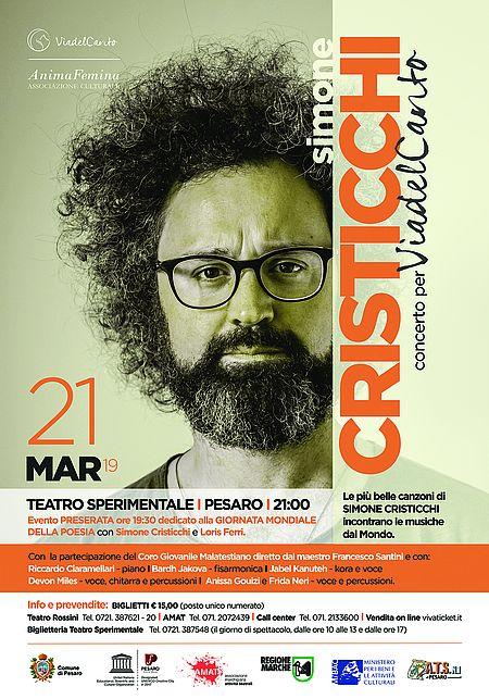 Simone Cristicchi in concerto_manifesto