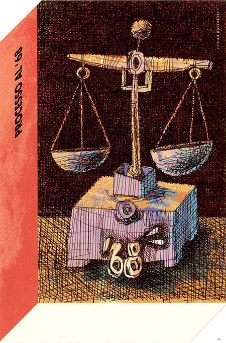 Cartolina Processo 68