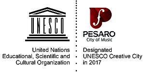 Unesco creative cities Pesaro_logo
