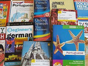 Copertine opuscoli di viaggio in lingua