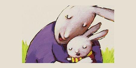 immagine conigli che si abbracciano illustrazione di Roberta Angaramo