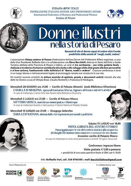 donne illustri nella storia di Pesaro_locandina