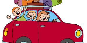 auto con famiglia in viaggio