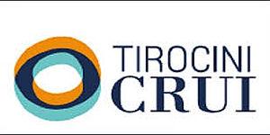 tre cerchi concentrici arancione, nero, azzurro con accanto la scritta Tirocini Crui