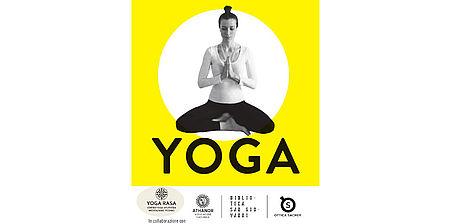 particolare locandina raffigurante donna posizione yoga