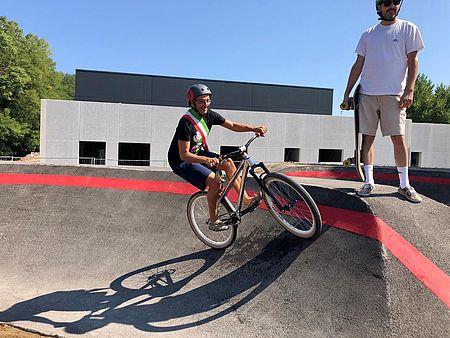 Ricci in pista pump track