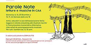 Parole Note letture e musiche in CAA. Associazione Genia