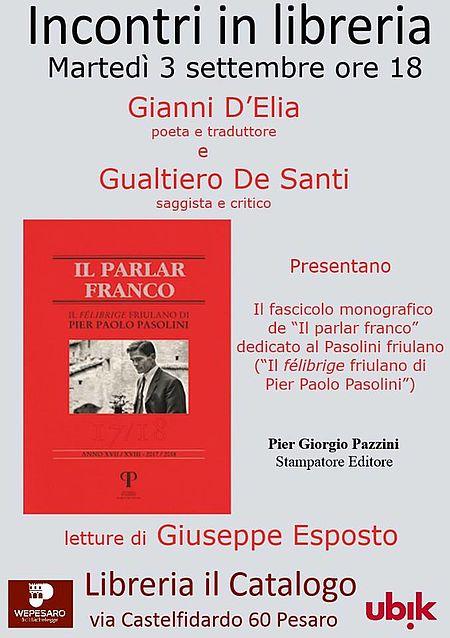 Incontri in Libreria Il Catalogo locandina