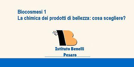 Biocosmesi 1 immagine logo Istituto Benelli lettera B in evidenza