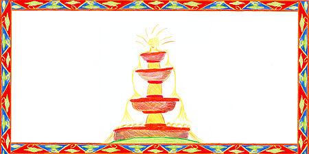 Disegno di una fontana