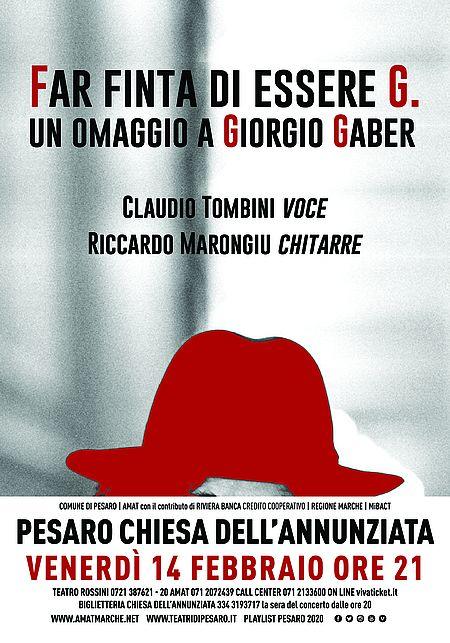 Far finta di essere G. Un omaggio a Giorgio Gaber