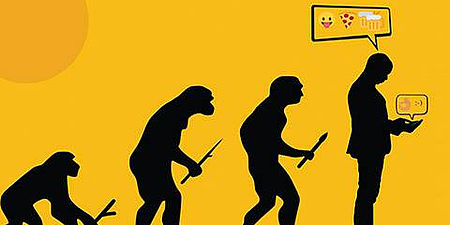 Disegno con raffigurati le evoluzioni dell'uomo