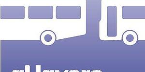 """Logo """"al lavoro ci andiamo in autobus"""""""