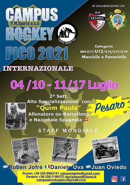 Volantino Campuc hockey Pico 2021