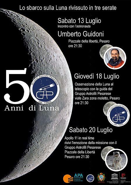 Incontro 18 luglio zona Moletto - osservazione Luna al telescopio