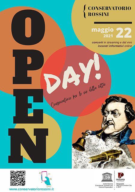 Open Day del Conservatorio Rossini manifesto