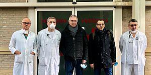 """Ricci al San Salvatore: """"Grazie agli operatori sanitari per il lavoro straordinario. Forza, insieme ce la faremo"""""""
