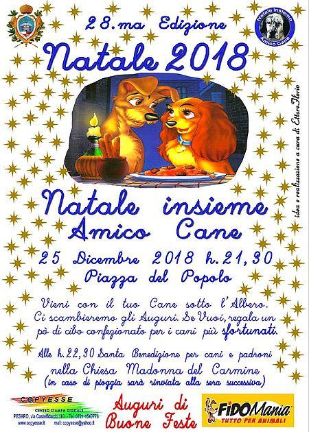 Natale insieme Amico Cane 2018 manifesto