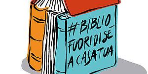 LA BIBLIOTECA FUORI DI SE' A CASA TUA LOGO