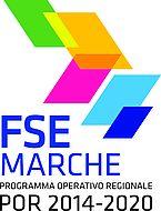 Logo Por Marche - Immagine bandiere colorate e descrzione Por