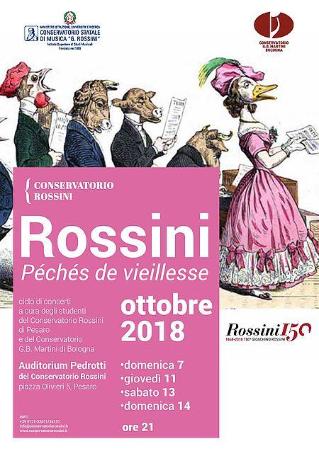 Locandina Rossini péchés de vieillesse