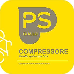 Logo compressore giallo