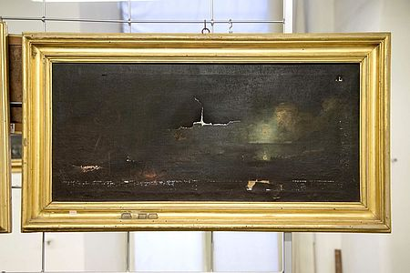 Scena notturna_Anonimo seicentesco. Musei Civici Pesaro