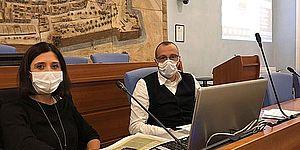 Foto del Sindaco Matteo Ricci e Assessore alla Coesione e al Benessere Mila Della Dora