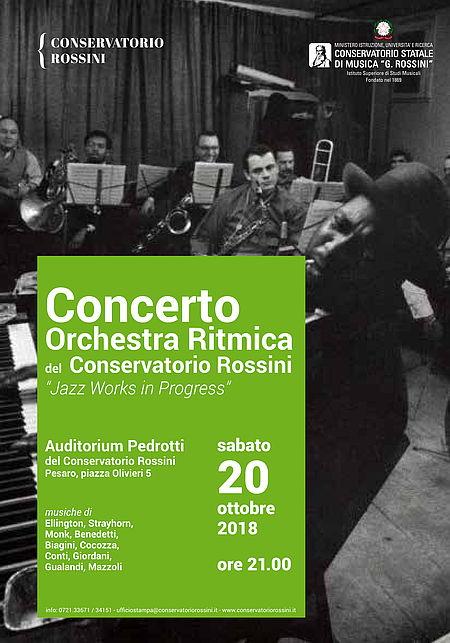 Manifesto Orchestra ritmica Conservatorio