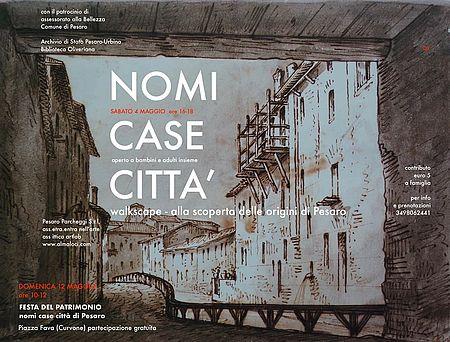NOMI CASE CITTA'. Alla scoperta di Pesaro_locandina