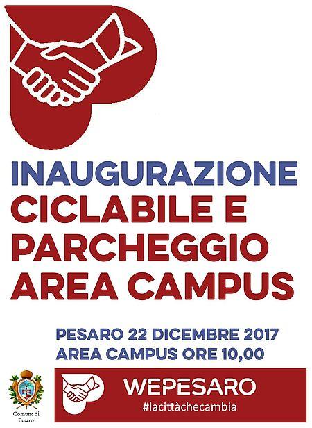 invito inaugurazione ciclabile e parcheggio Campus