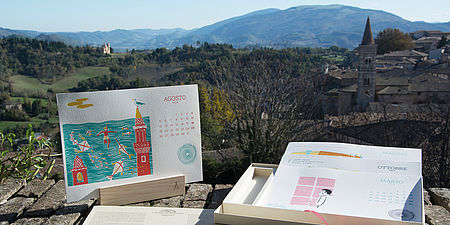 Fotografia del calendario e di un panorama