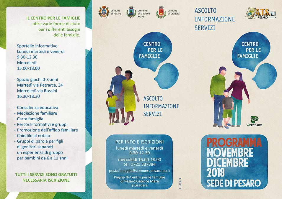 programmazione Centro Famiglie sedi di Pesaro_novembre-dicembre 2018