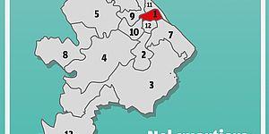 Mappa quartieri di Pesaro centro