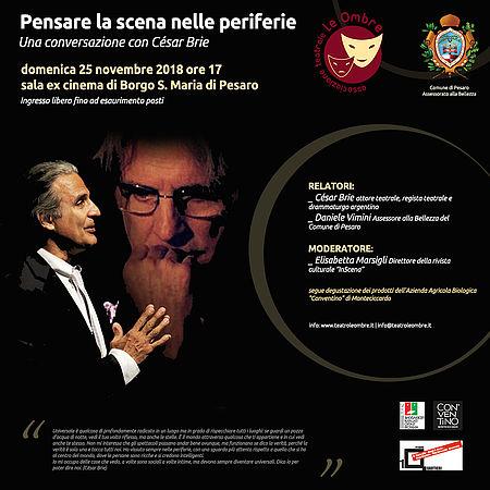 Locandina Teatro le Ombre_incontro con Cesar Brie