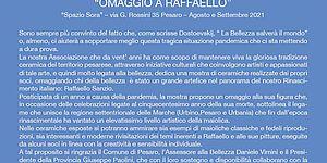 Omaggio a Raffaello locandina