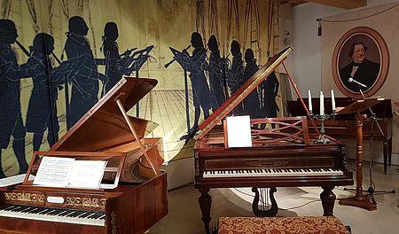 Pianoforti allestiti a Rossini150