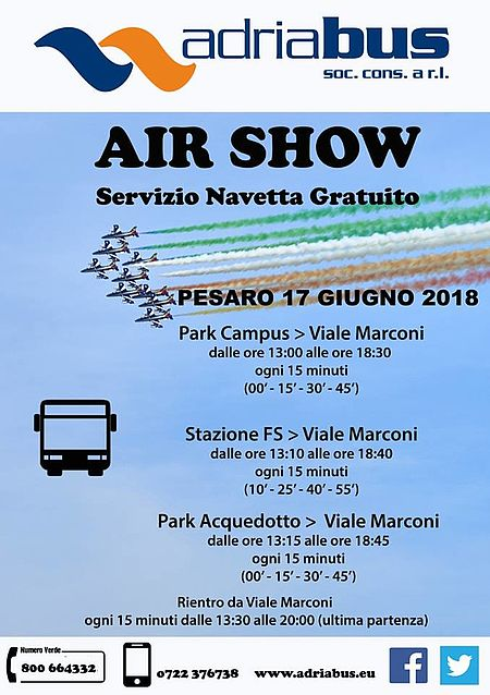 navette per air show 2018