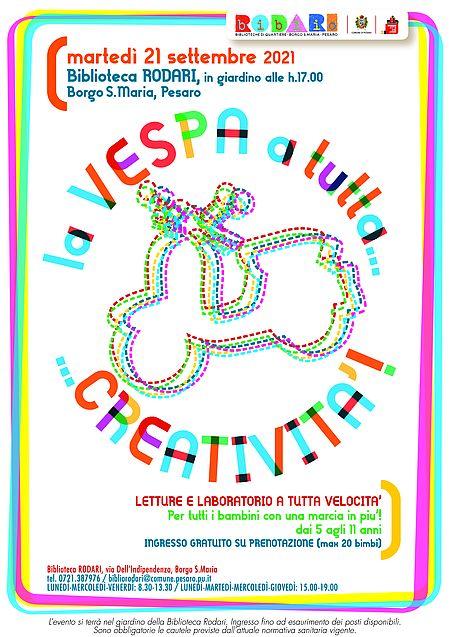 La vespa a tutta...creatività! Locandina
