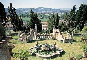 Veduta dei giardini dalla villa