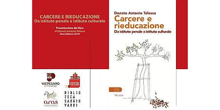 particolare della locandina con copertina del libro raffigurante disegno albero con scala