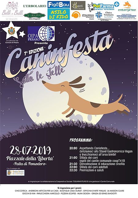 Caninfesta sotto le stelle 2019