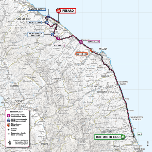 Cartina Percorso Giro D Italia 2017.Comune Di Pesaro Il Percorso