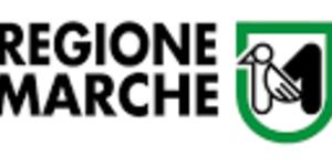 logo Regione Marche con scritta