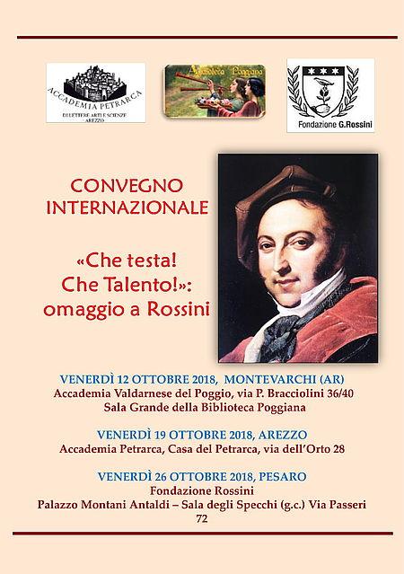 Locandina Omaggio a Rossini