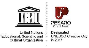 Logo Pesaro Città Creativa della musica Unesco